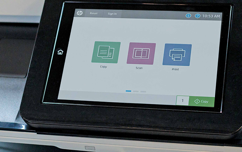 ekran urządzenia drukującego