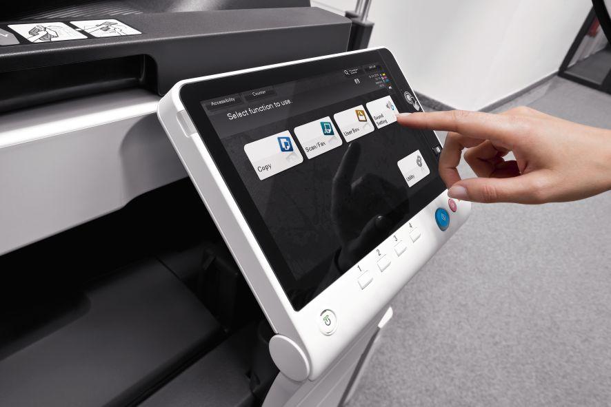 ekran dotykowy urządzenia drukującego